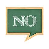 Blackboard with Word No