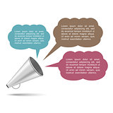 Megaphone with Speech Bubbles