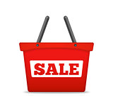 Shopping Basket with Sale Word