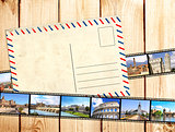 Old filmstrips and postcard