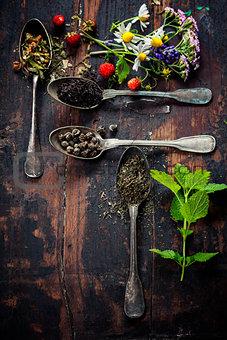 Black, green and herbal tea