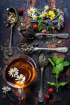 Black, green and herbal tea