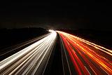 Autobahn bei Nacht - Freeway at night