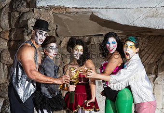 Cirque Clowns with Martinis