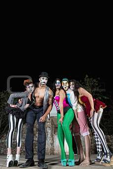 Five Cirque Clowns