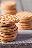 stacks of honey cookies