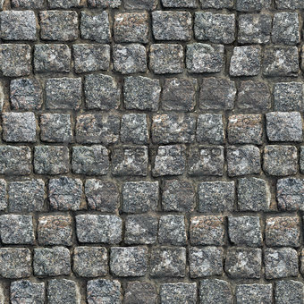 Gray Old Paving Stone Texture.