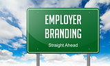 Employer Branding on Highway Signpost.