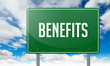 Benefits on Highway Signpost.