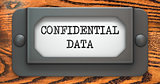 Confidential Data Concept on Label Holder.