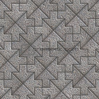 Gray Granular Mosaic Paving Slabs.