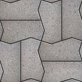 Gray Figured Pavement  Slabs.