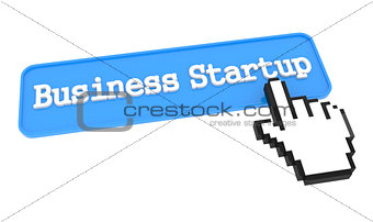 Business Startup Button with Hand Cursor.