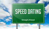 Speed Dating on  Highway Signpost.