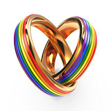 Wedding Rings with Gay Symbols.
