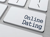 Online Dating Button on Computer Keyboard.