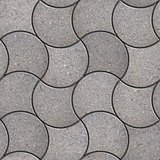 Gray Figured Pavement with Decorative Wave.