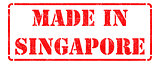 Made in Singapore on Red Stamp.