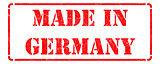 Made in Germany on Red Stamp.