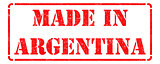 Made in Argentina on Red Stamp.