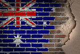 Dark brick wall with plaster - Australia