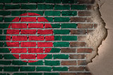 Dark brick wall with plaster - Bangladesh