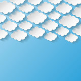 Abstract background with paper clouds