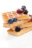 Delicious waffles with berries.
