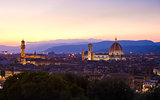 Florence cityscape at dawn