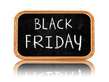 black friday on blackboard banner