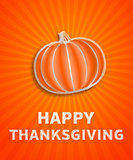 happy thanksgiving day - autumn illustration with striped pumpki