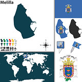 Map of Melilla