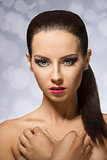 Beauty photo of a brunette girl