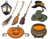 Set halloween symbol