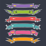 Cartoon Ribbons Set