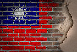 Dark brick wall with plaster - Taiwan