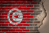 Dark brick wall with plaster - Tunisia