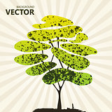 Abstract color tree background green