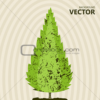 Abstract color tree background