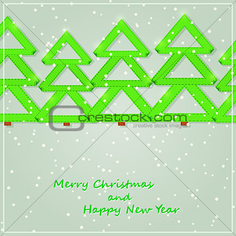 Green Paper Christmas Tree Silhouette