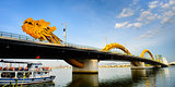 Dragon bridge cross Han river at Danang city