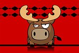 reindeer ball cute cartoon background 4
