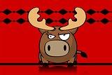 reindeer ball cute cartoon background 4