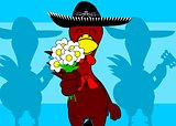 mexican mariachi chicken background5
