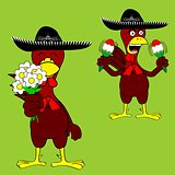 mexican chicken mariachi set
