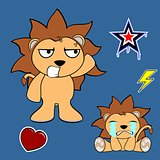 cute lion cartoon sticker set8