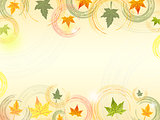 autumn background with text space
