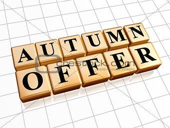 autumn offer in golden cubes
