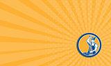 Business card Blacksmith Hammering Pliers Circle Retro