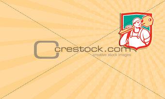 Business card Locksmith Carry Key Shield Retro